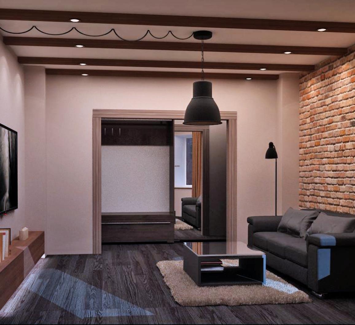 Мужской дизайн квартиры 152
